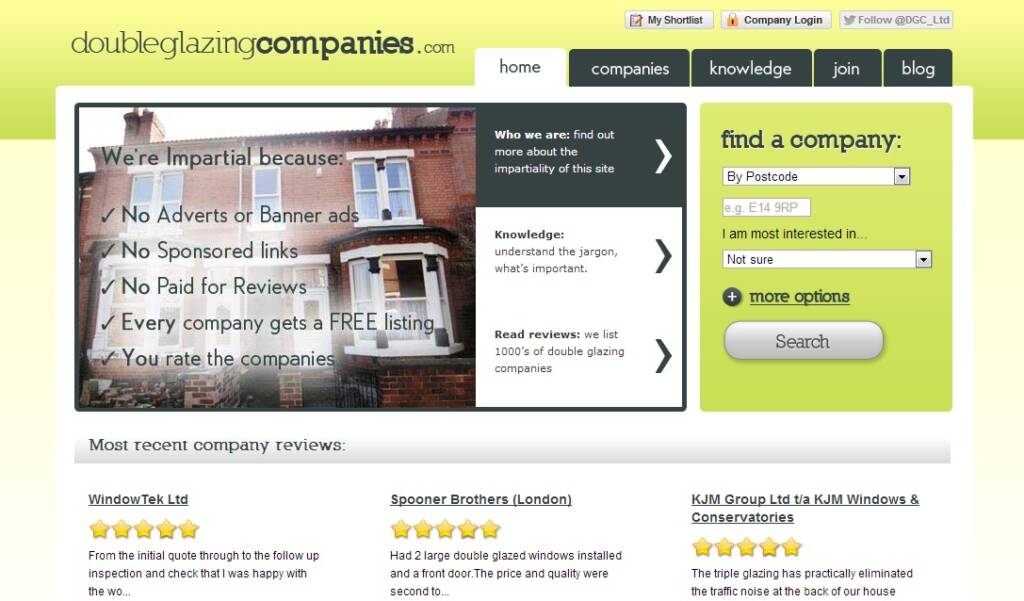 Something good for free double glazing blogger for Double glazing firms