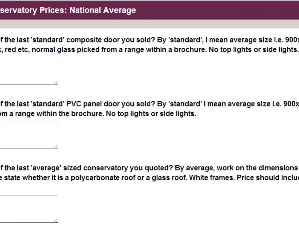 National Average Prices Survey