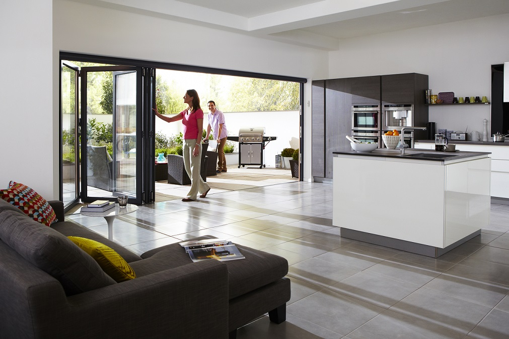 kitchen designs with bifold doors bi folding doors which material is right for your 764