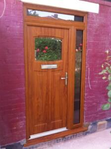 Light Oak rock door