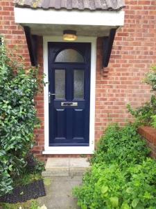 New blue comp door