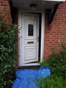 Old PVC door