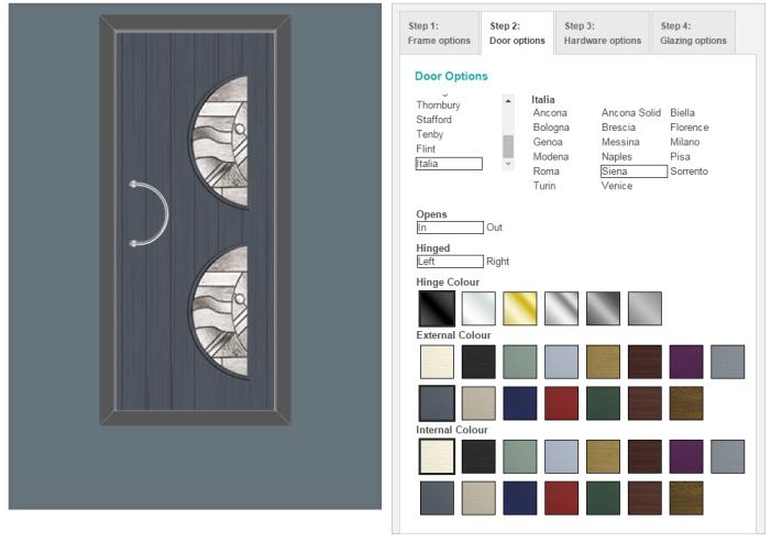 Door builder software html