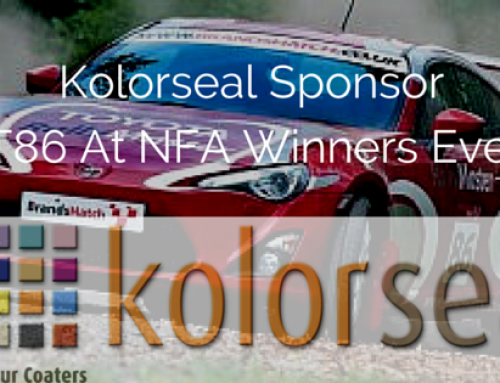 Kolorseal to Sponsor Toyota GT86 Rally Cars At NFA 2015 Winners Event
