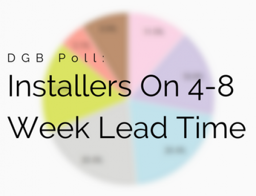 Installers Report 4-8 Week Average Lead Time