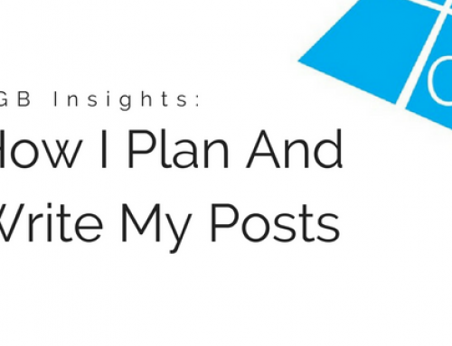 DGB Insights: How I Plan And Write My Posts