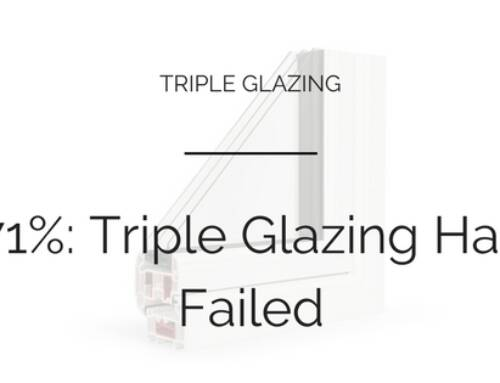 71% Think Triple Glazing Has Failed To Break Through