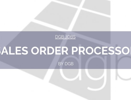 DGB Jobs: Sales Order Processor