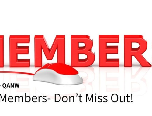 QANW Members- Don't Miss Out!