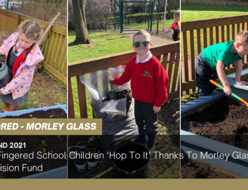 Green Fingered School Children 'Hop To It' Thanks To Morley Glass' GreenVision Fund