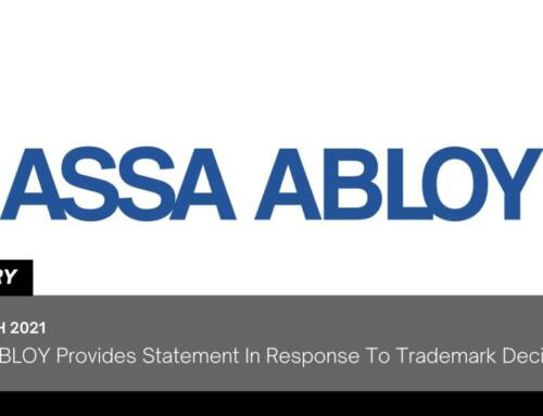 ASSA ABLOY Provides Statement In Response To Trademark Decision