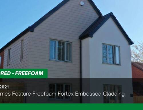 New Homes Feature Freefoam Fortex Embossed Cladding