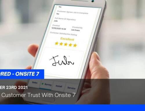 Building Customer Trust With Onsite 7