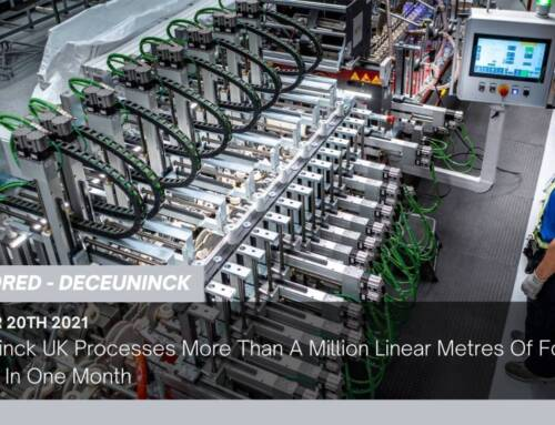 Deceuninck UK Processes More Than A Million Linear Metres Of Foiled Product In One Month